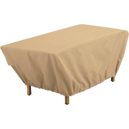 Classic Accessories Terrazzo Rectangular Patio Coffee Table Cover All Weather Protection