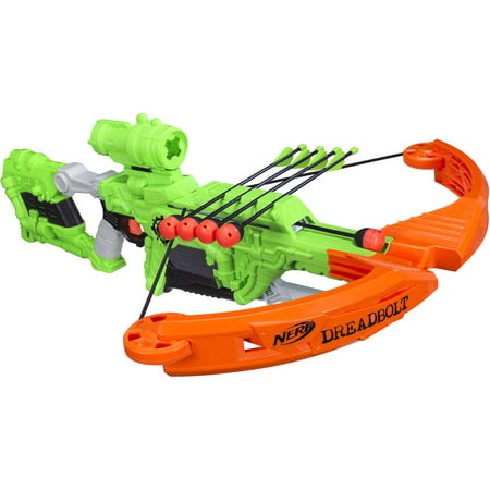 Nerf Zombie Strike Dreadbolt Blaster with 5 Nerf Zombie Strike (Child's Bow And Arrow)