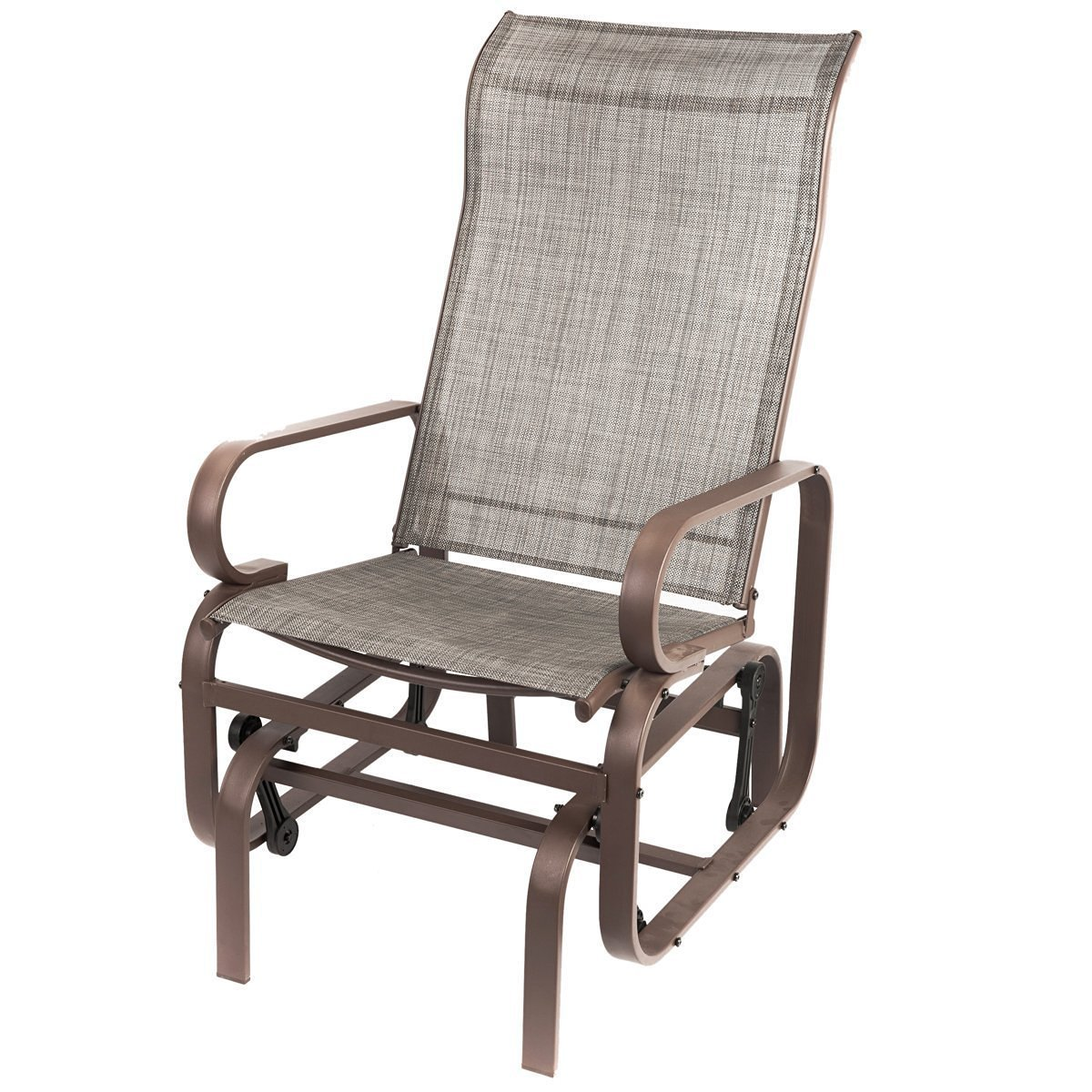 Delightful Naturefun Outdoor Patio Rocker Chair, Balcony Glider Rocking Lounge Chair,  All Weatherproof, Gray   Walmart.com