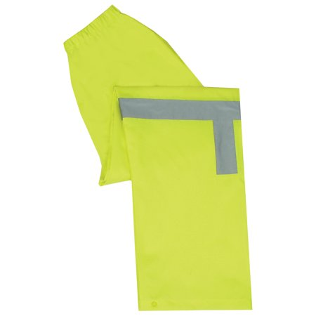 ERB Safety S373Pt Ansi Class E Lightweight Rain Pants Oxford Pu Coating - Lined Oxford Uniform