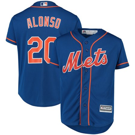 Pete Alonso New York Mets Majestic Youth Home Official Cool Base Player Jersey - White Pete Maravich Jerseys
