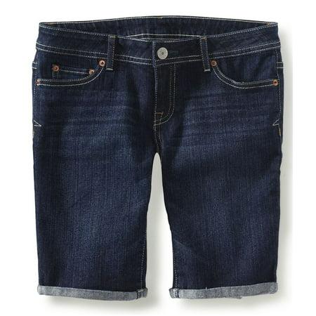 Aeropostale Juniors Denim Casual Bermuda Shorts