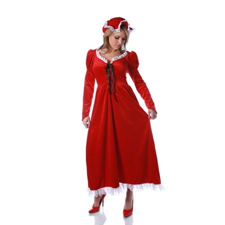 MRS. CLAUS nightgown dress adult womens Santa mrs miss Christmas holiday costume - Mrs Santa Claus Costume