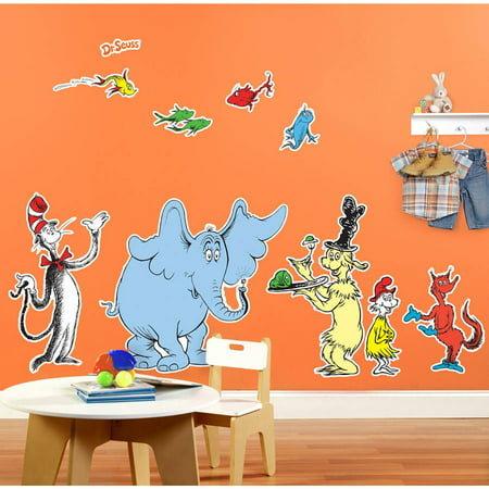 Dr. Seuss Favorites Giant Wall Decal](Dr Seuss Giant Wall Decals)
