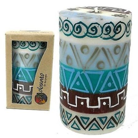 Single Boxed Hand-Painted Pillar Candle - Maji Design - image 1 de 1