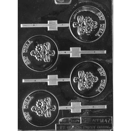 Get Well Lollipop Sucker Chocolate Mold Candy Soap Mould m54](Life Saver Suckers)
