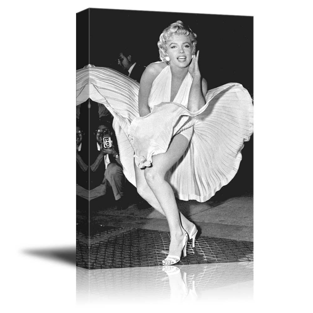 "Portrait of Marilyn Monroe - Inspirational Famous People Series | Giclee Print Canvas Wall Art. Ready to Hang - 24""x36"""