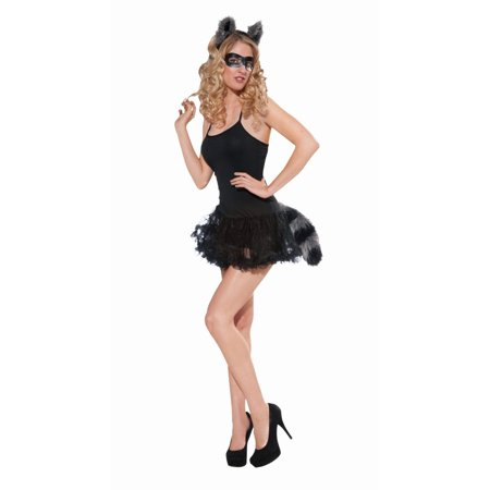Halloween Raccoon Ears & Tail Set (Halloween Costumes Dog Ears And Tail)