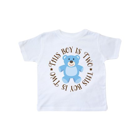 2nd Birthday Boys Teddy Bear Toddler T-Shirt