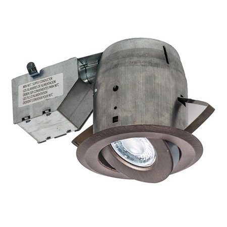 nadair gu378l-sworb 4 in. led swivel recessed light for gu10, oil rubbed bronze
