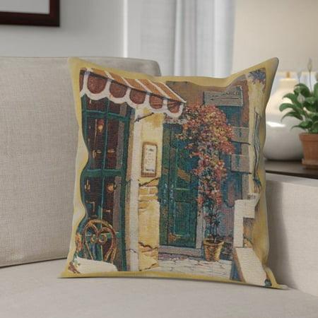 Fleur De Lis Living Cambridge Passage to San Marco I Cotton Pillow Cover (Outlet De San Marcos)