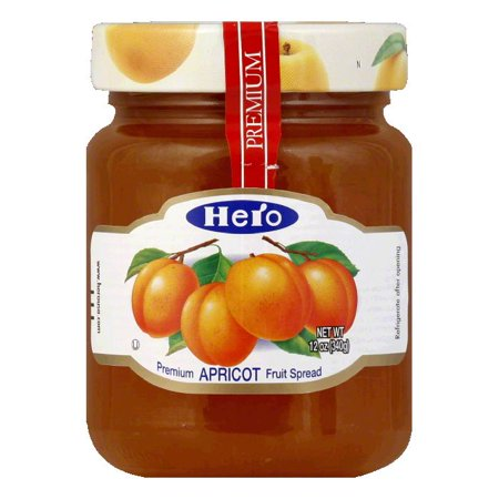 Hero Apricot Preserves, 12 OZ (Pack of 8) (Hero Jelly)