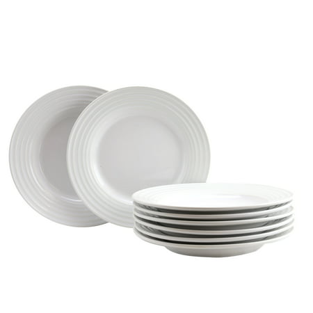 Gibson Home Plaza Cafe 8 Piece 8.5 inch Dessert Plate Set in White
