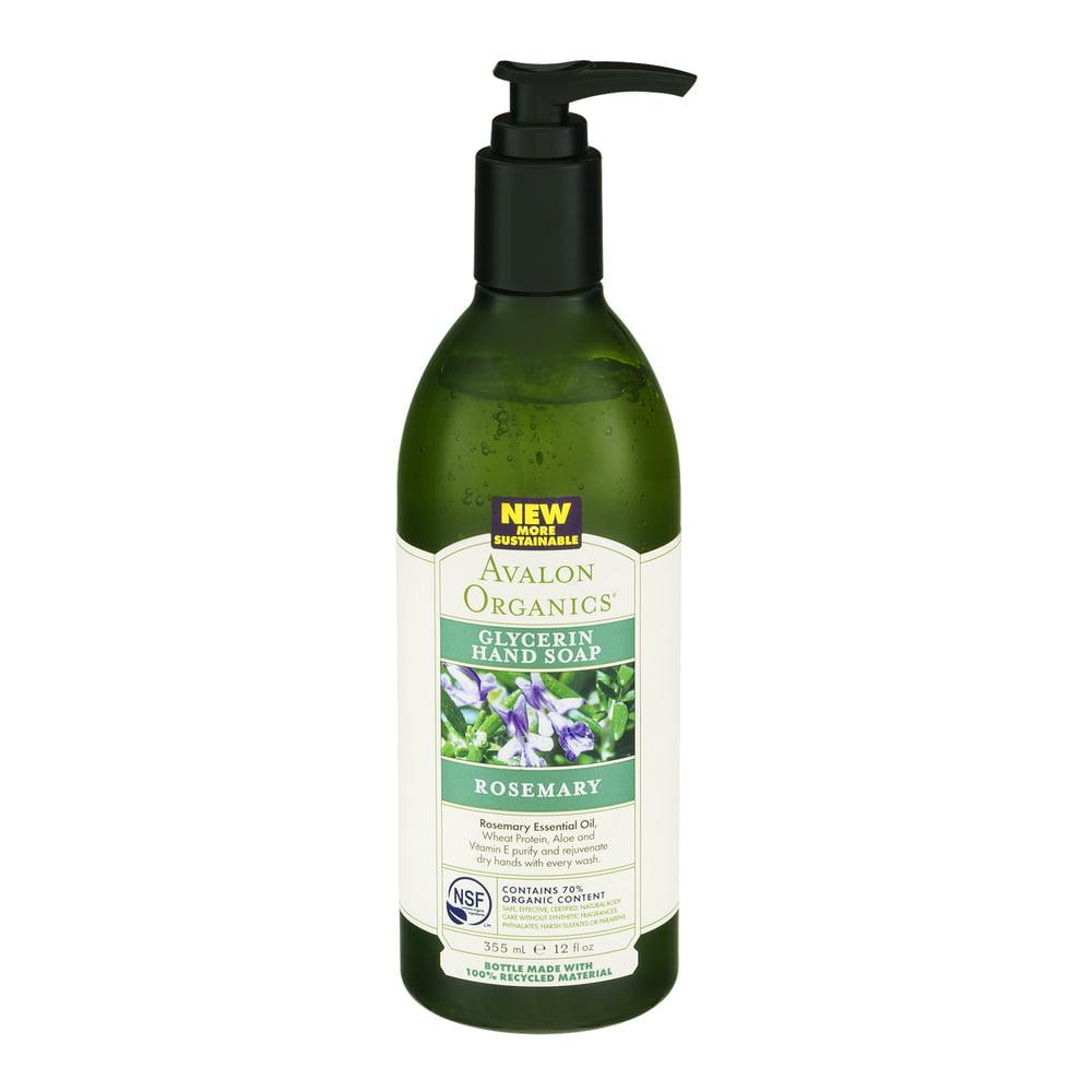Avalon Organics Glycerin Hand Soap Rosemary, 12.0 FL OZ