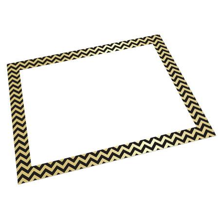 UCreate™ Foil Poster Board, Gold/Black Chevron, Pack of 25 ()