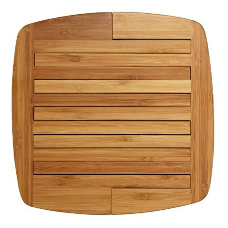 Totally Bamboo Expandable Trivet, Durable and Beautiful Bamboo Protects Tabletops and Counters in Style, 11 3/4