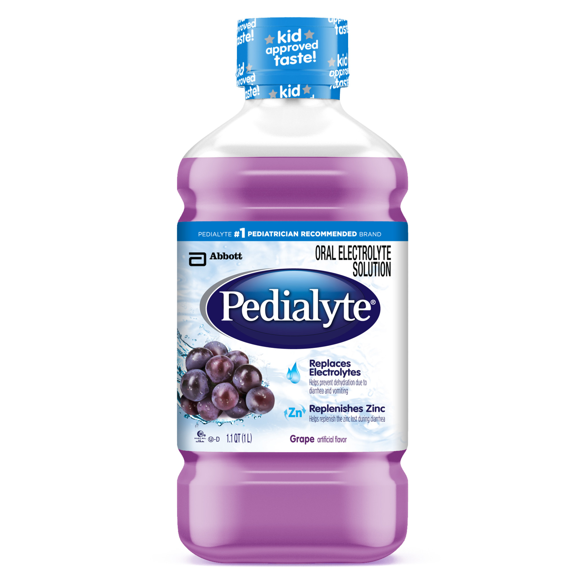 Pedialyte Oral Electrolyte Solution, Grape Flavor, 1-L