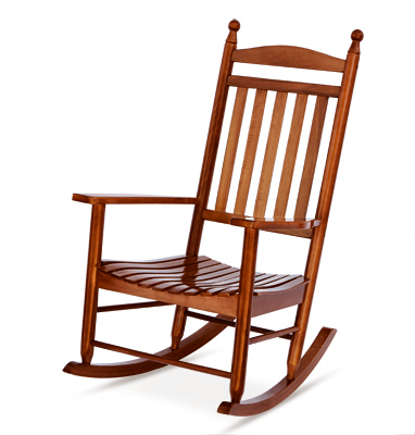 Knollwood Collection Porch Rocker, Hardwood Frame