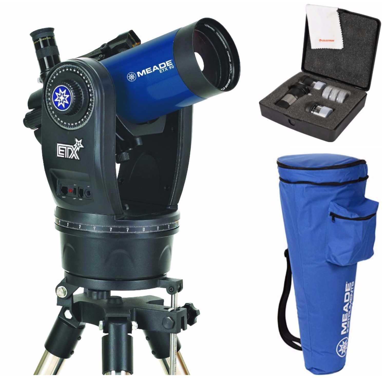 Meade ETX 90 Observer Telescope & Tripod (205004) W Astromaster Eyepieces Kit by Meade