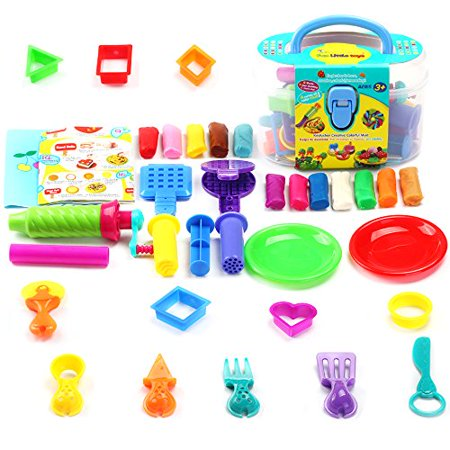 Molding Clay Children DIY Magic Creative Plasticine Kitchen Food Cooking Baking Educational Classroom Activities Art and Craft Kit with 12 Colors 36 PCs - Halloween Classroom Food Crafts