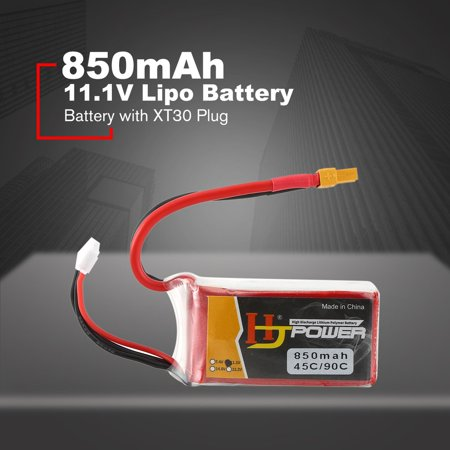 HJ 11.1V 850MAH 45C 3S Lipo Battery XT30 Plug Rechargeable for RC Racing Drone Helicopter Car Boat Model - image 9 de 10