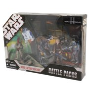 Star Wars Action Figure Set - Battle Packs - DROID FACTORY CAPTURE (Jango, Anakin, R2-D2, C-3PO +1)