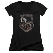 Labyrinth Globes Juniors V-Neck Shirt