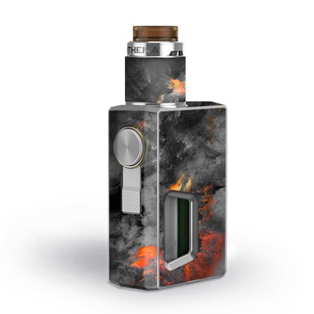 Skin Decal for GeekVape Athena Squonk Vape / Grey Clouds on Fire Paint ()