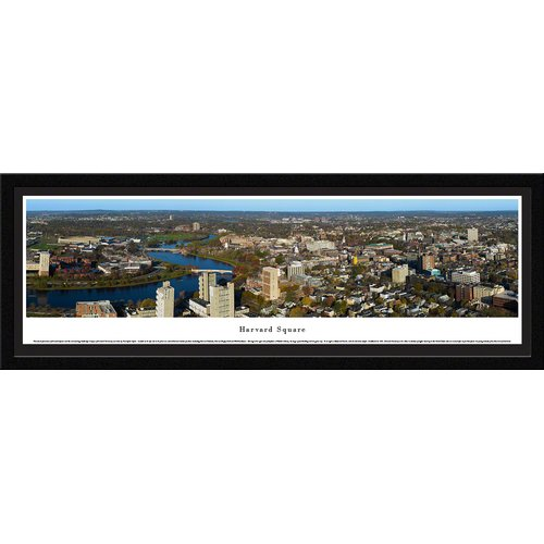 Blakeway Worldwide Panoramas, Inc Harvard Square by Christopher Gjevre Framed Photographic Print