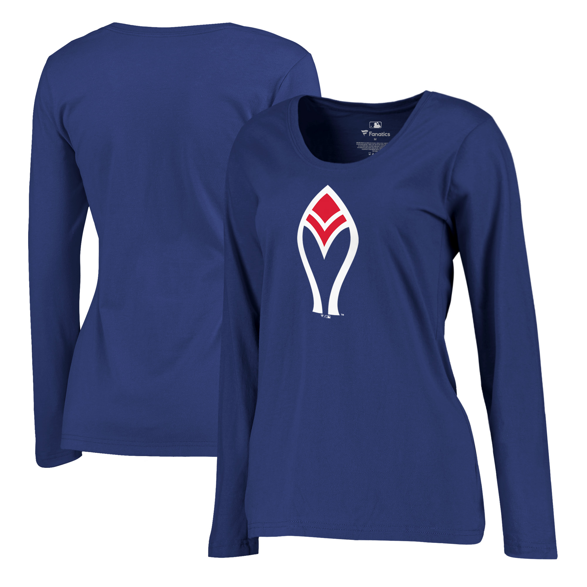 Atlanta Braves Fanatics Branded Women's Plus Size Cooperstown Collection Forbes Long Sleeve T-Shirt - Royal