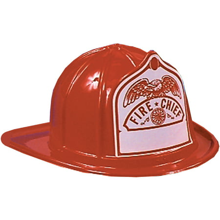 Red Fireman Hat Child Halloween Accessory