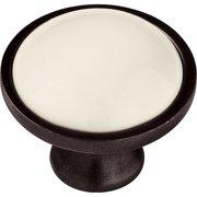 Brainerd 35mm Ceramic Insert Knob, Statuary Bronze and Almond