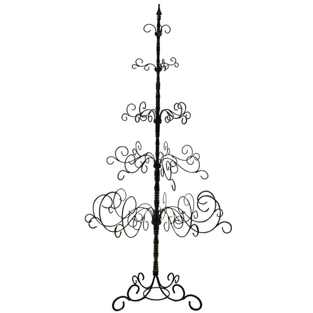 7-Ft Black Wrought Iron Christmas Tree- 5 Levels, 41 X 41