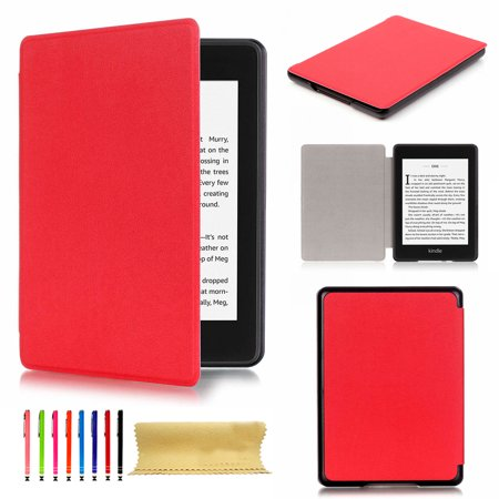 Dteck Slim Case Cover For Kindle Paperwhite 10th Generation - 2018, Red