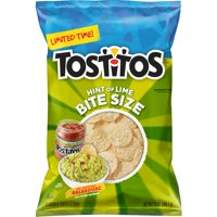 HI Tostitos Hint of Lime Bite Size Tortilla Chips, 13 oz Bag