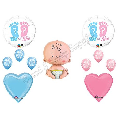 GENDER REVEAL He/She? BOY GIRL BABY SHOWER Balloons Decorations Supplies](Buy Balloon)