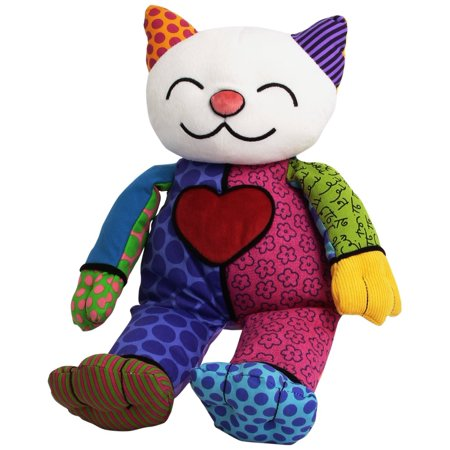 Britto by Internationally Acclaimed Artist Romero Britto for Enesco Kitty Plush, Anointed by inches The New York Times inches as inches.., By GUND From USA
