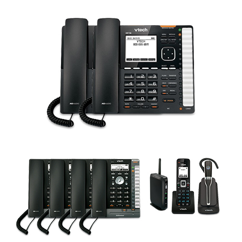 VTech VSP736 (2 Pack) plus VSP726 (4 Pack) plus VSP600 plus VSP505 ErisTerminal DECT SIP Deskset by VTech