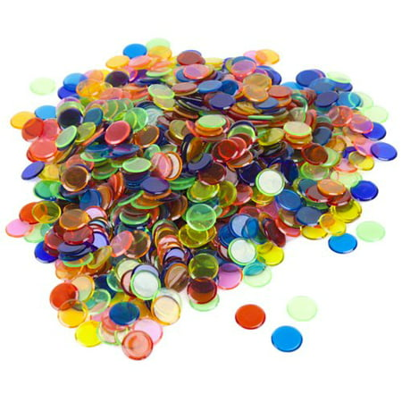 "Royal Bingo Supplies 1,000 Bingo Chips, 3/4"" with Radius Edge, Mixed"