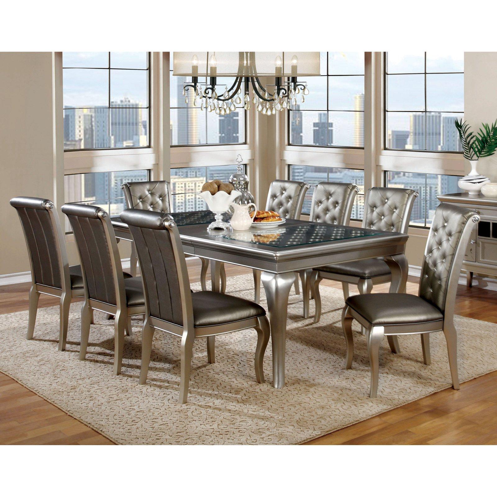 Furniture of America Sylera 9-Piece Dining Set