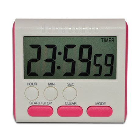 Digital Time Magnetic Large LCD Digital Kitchen Timer Alarm Count Up&Down Clock 24 Hours ()