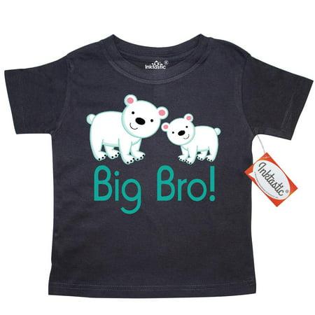 Inktastic Big Bro Polar Bear Toddler T Shirt Brother New Announcement Bears Animal Siblings Cute Boys Blue Tees  Gift Child Preschooler Kid Clothing Apparel Hws