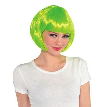 Neon Green Bob Wig (1ct)