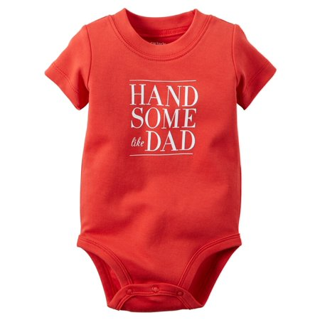 Carters Baby Clothing Outfit Boys Handsome Like Dad Bodysuit
