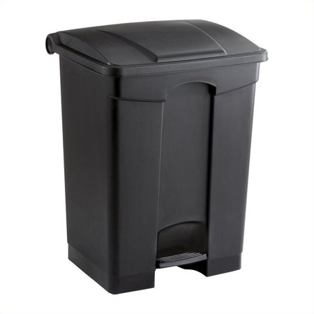 Safco Plastic Step-On Receptacle - 17 Gallon in Black - image 1 of 1