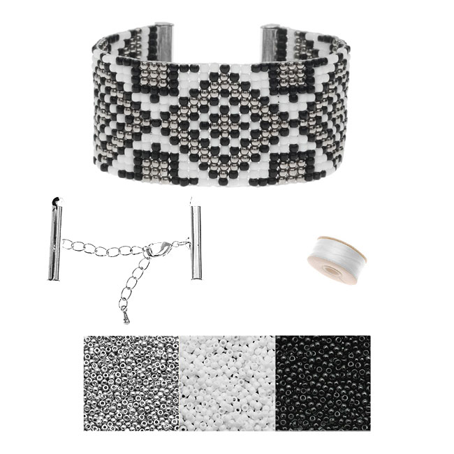 Refill - Gatsby Loom Bracelet - Silver - Exclusive Beadaholique Jewelry Kit