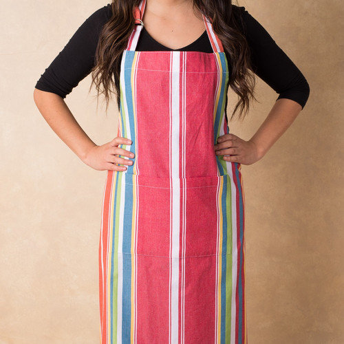 Linen Tablecloth Sunset-Striped Chef Apron