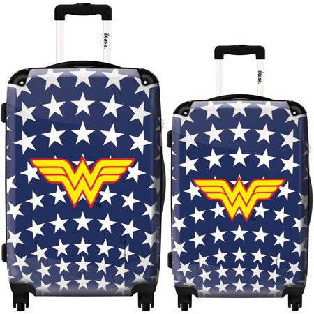 iKase Suitcase WonderWoman white stars - Set 20