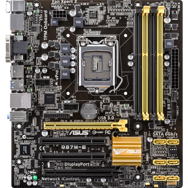 Asus Q87M-E Desktop Motherboard - Intel Chipset - Socket H3 LGA-1150 - Retail Pack - Micro ATX - 1 x Processor Support - 32 GB DDR3 SDRAM Maximum RAM - 1.33 GHz Memory Speed Supported - 4 x Memory Slo