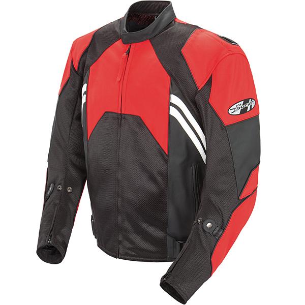 Joe Rocket Radar Leather/Mesh Jacket Red/Black 48 USA/58 Euro
